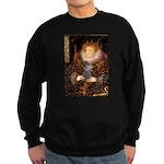 Elizabeth / Poodle (Silver) Sweatshirt (dark)