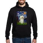 Starry / Poodle (White) Hoodie (dark)