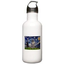 Starry Night / Poodle (s) Water Bottle