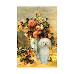 Vase / Poodle (White) Mini Poster Print