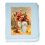 Vase / Poodle (White) baby blanket