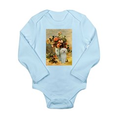 Vase / Poodle (White) Long Sleeve Infant Bodysuit