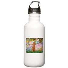 Garden/Std Poodle (apricot) Water Bottle