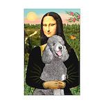 Mona Lia/Std Poodle (silver) Mini Poster Print