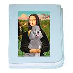 Mona Lia/Std Poodle (silver) baby blanket