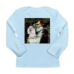 Ophelia / Poodle pair Long Sleeve Infant T-Shirt