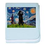 Starry / Std Poodle(bl) baby blanket