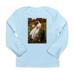Windflowers / Poodle (BLk-ST) Long Sleeve Infant T