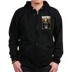 Mona Lisa's PWD (5) Zip Hoodie (dark)