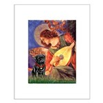 Mandolin Angel / Black Pug Small Poster