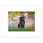 Garden / Black Pug Small Poster
