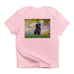 Garden / Black Pug Infant T-Shirt