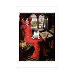 Lady / Pug Mini Poster Print