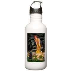 Fairies & Black Pug Stainless Water Bottle 1.0L