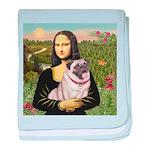 Mona's Fawn Pug (#2) Baby Blanket