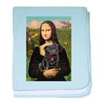 Mona's Black Pug baby blanket