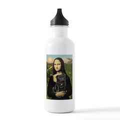 Mona's Black Pug Stainless Water Bottle 1.0L