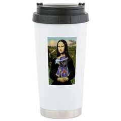 Mona & Sir Pug Ceramic Travel Mug