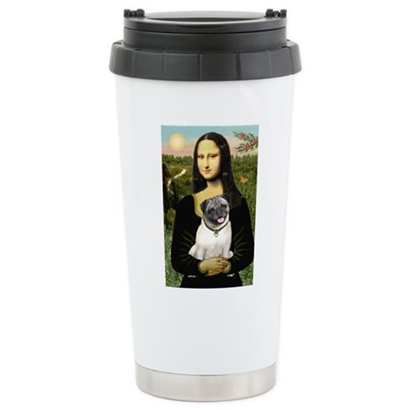 Mona's Fawn Pug Ceramic Travel Mug