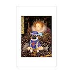 The Queen & Sir Pug Mini Poster Print