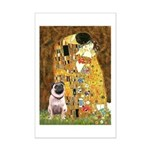 The Kiss / Pug Mini Poster Print