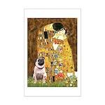 The Kiss / Pug Mini Poster Print