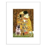 The Kiss / Pug Small Poster