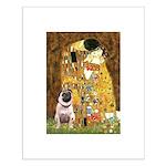 The Kiss / Pug Small Poster