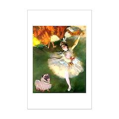 Dancer 1 & fawn Pug Mini Poster Print