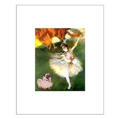 Dancer 1 & fawn Pug Small Poster