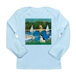 Sailboats / Rat Terrier Long Sleeve Infant T-Shirt