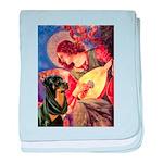 Mandolin Angel/Rottweiler baby blanket