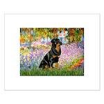 Garden / Rottweiler Small Poster