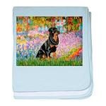 Garden / Rottweiler baby blanket