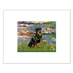 Lilies2/Rottweiler Small Poster