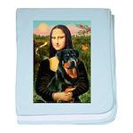 Mona Lisa/Rottweiler baby blanket
