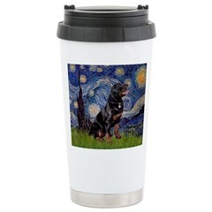 Starry/Rottweiler (#6) Ceramic Travel Mug
