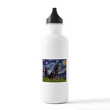Starry/Rottweiler (#6) Water Bottle