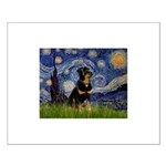 Starry Night Rottweiler Small Poster