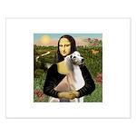 Mona Lisa (new) & Saluki Small Poster