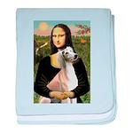 Mona Lisa (new) & Saluki baby blanket