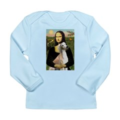 Mona Lisa (new) & Saluki Long Sleeve Infant T-Shir