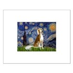 Starry Night / Saluki Small Poster