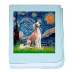 Starry Night / Saluki baby blanket