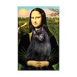 Mona / Schipperke Mini Poster Print