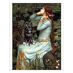 Ophelia / Schipperke #4 Small Poster