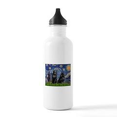 Starry / Schipperke Pair Stainless Water Bottle 1.