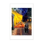 Cafe & Schipperke Mini Poster Print