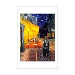 Cafe & Schipperke Mini Poster Print