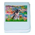 Lilies (#2)/Schnauzer Pup baby blanket